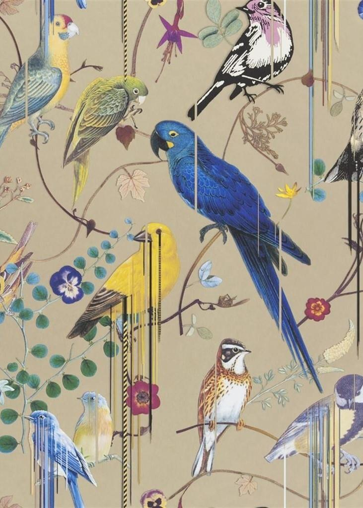 Christian Lacroix Birds Sinfonia Wallpaper PCL7017-04 Or