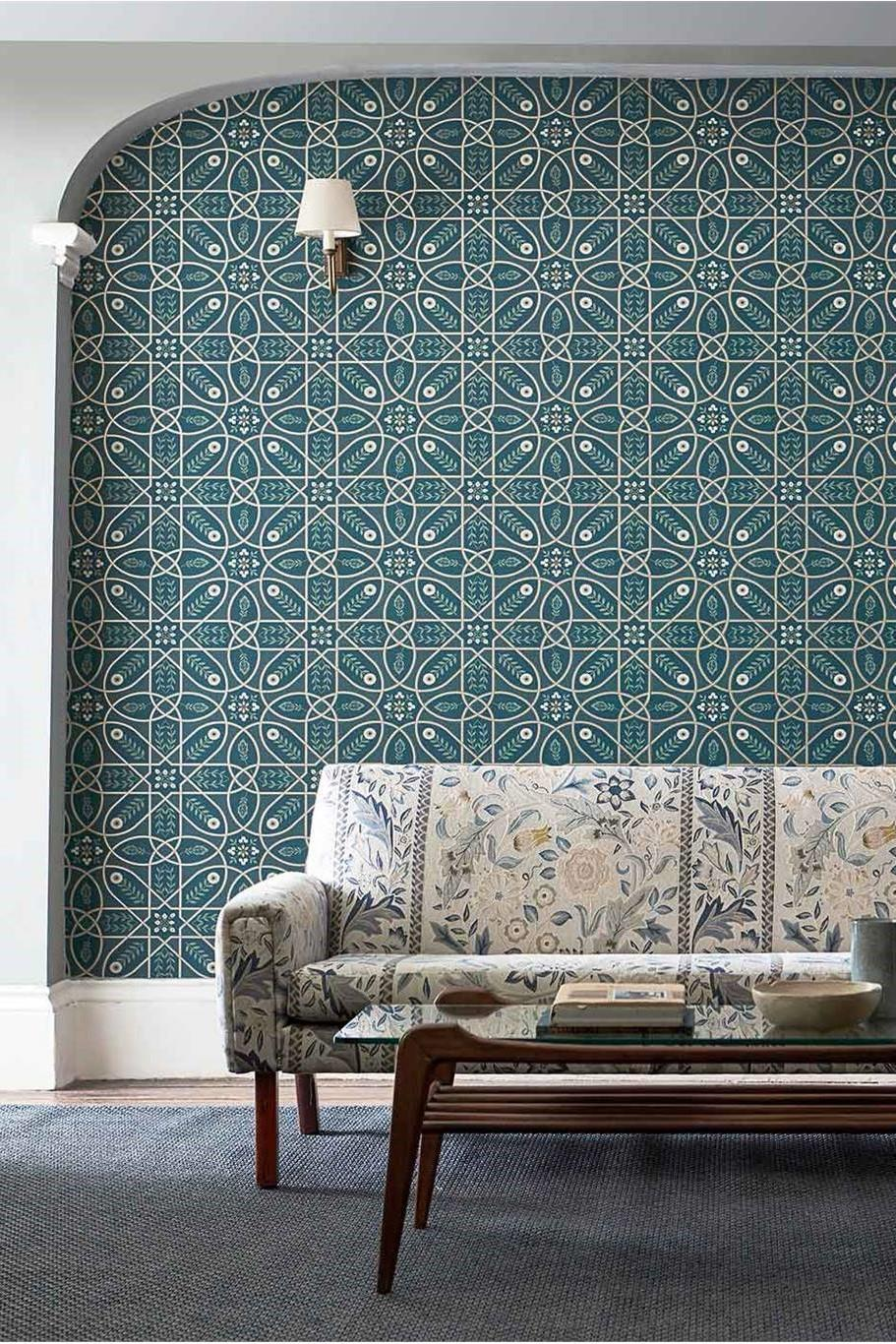 Morris & Co Melsetter Brophy Trellis Wallpaper
