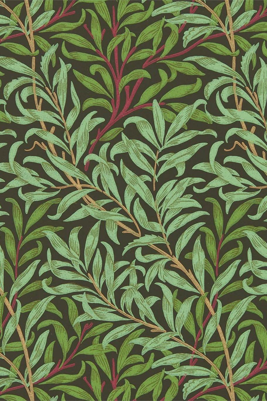 Morris & Co Queen Square Willow Bough Wallpaper DBPW216950