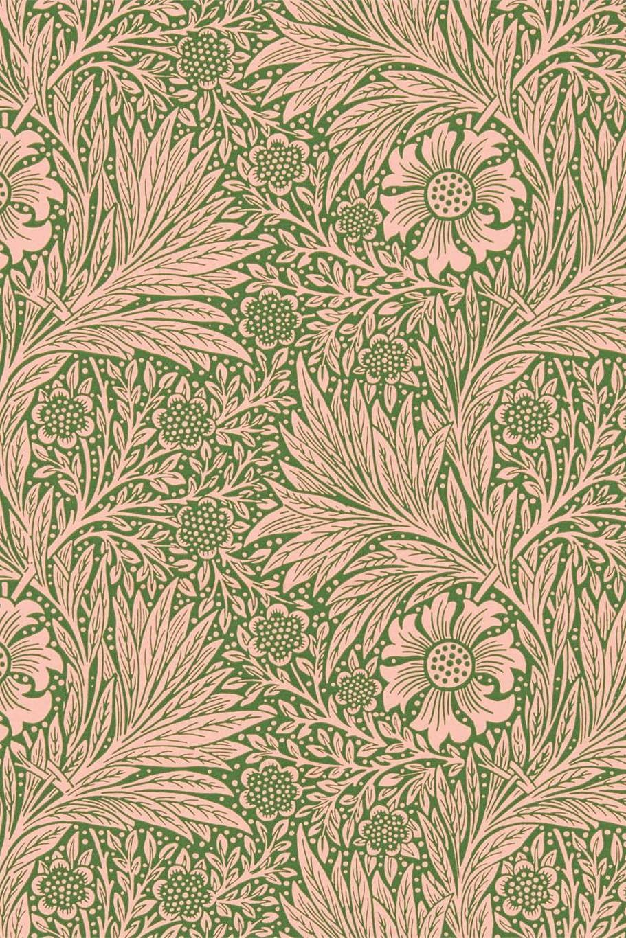 Morris & Co Queen Square Marigold Wallpaper DBPW216953