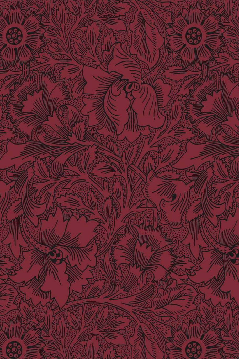Morris & Co Queen Square Poppy Wallpaper DBPW216956