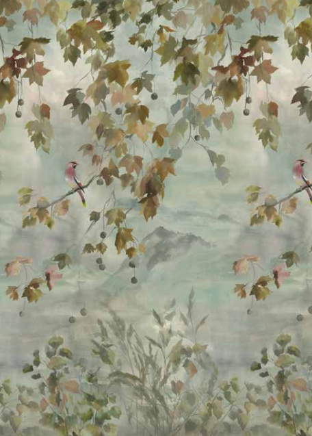Designers Guild Miyako Scene 2 Dove Wallpaper
